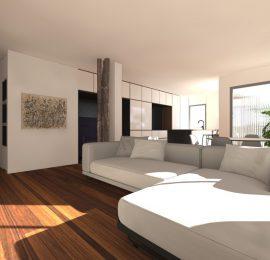 La casa del sofá azul